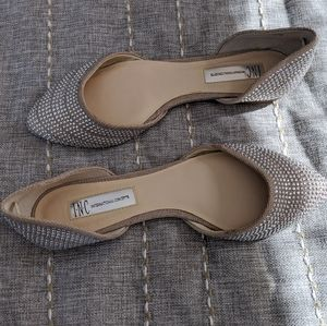 Metallic detailed d'orsay flats